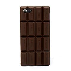 3d случай мягкой крышки шоколада силикона с iphone 5c iphone случаи