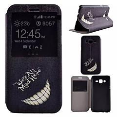 Kılıf Na Samsung Galaxy Samsung Galaxy Etui Z podpórką Z okienkiem Futerał Czarno-biały Sztuczna skóra na J5
