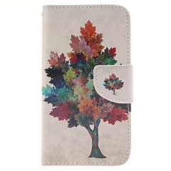 For Samsung Galaxy Case Card Holder / Wallet / with Stand / Flip Case Full Body Case Tree PU Leather Samsung J5