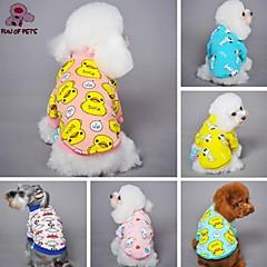 Koty / Psy T-shirt / Piżama Żółty / Niebieski / Różowy / Szary Ubrania dla psów Lato / Wiosna/jesień Kreskówka Urocze / Codzienne