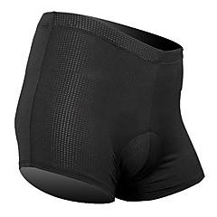 SANTIC Kerékpáros alsónadrág Férfi Uniszex Bike Fehérnemű Shorts Bélelt nadrág Alsók Kerékpáros ruházat Légáteresztő Korlátozza a