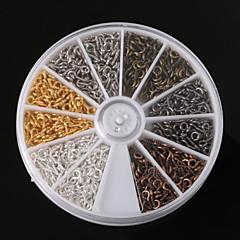 voordelige Kralen & Sieraden maken-beadia 1 stuks sieraden bevindingen 4x8mm oog pinnen geassorteerde kleuren (ca. 600pcs)