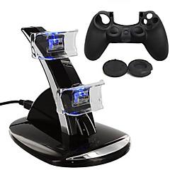 abordables Baterías y Cargadores para PS4-Cargador / Game Controller Case Protector Para PS4 ,  Cargador / Game Controller Case Protector Silicona / ABS 1 pcs unidad