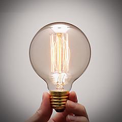 お買い得  LED 電球-1個 40 W E26 / E27 G80 温白色 2300 k 白熱ビンテージエジソン電球 220-240 V / 110-130 V