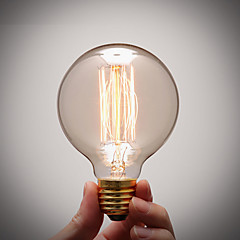 preiswerte LED-Birnen-1pc 40 W E26 / E27 G80 Warmes Weiß 2300 k Glühbirne Vintage Edison Glühbirne 220-240 V / 110-130 V