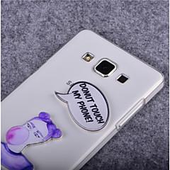 Varten Samsung Galaxy kotelo Läpinäkyvä Etui Takakuori Etui Sana / lause PC SamsungYoung 2 / Trend Lite / Trend Duos / J7 / J5 / J1 /