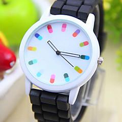 preiswerte Tolle Angebote auf Uhren-Quartz Armbanduhr Armbanduhren für den Alltag PU Band Charme / Modisch Schwarz / Weiß / Blau / Rot / Orange / Grün / Rosa / Lila / Gelb