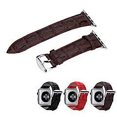 billige Apple Watch-tilbehør-Klokkerem til Apple Watch Series 3 / 2 / 1 Apple Klassisk spenne Ekte lær Håndleddsrem