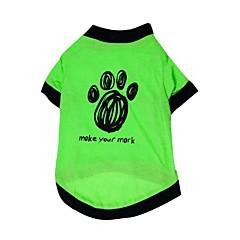 お買い得  犬用ウェア&アクセサリー-ネコ 犬 Tシャツ 犬用ウェア 花 / 植物 グリーン コットン コスチューム ペット用 夏 男性用 女性用 ファッション