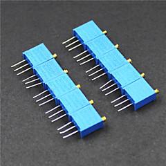 halpa Moduulit-3296 potentiometri 3-nastainen 10kohm säädettävät vastukset - sininen (10 kpl)