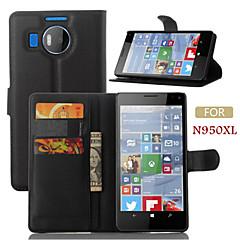 Недорогие Чехлы и кейсы для Nokia-Кейс для Назначение Nokia Кейс для Nokia Кошелек / Бумажник для карт / со стендом Чехол Однотонный Твердый Кожа PU для