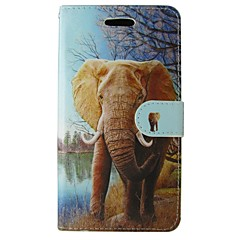 For Samsung Galaxy Note Pung Kortholder Med stativ Flip Etui Heldækkende Etui Elefant Kunstlæder for Samsung Note 4 Note 3 Lite Note Edge