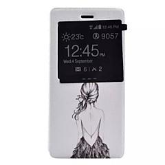 Voor Huawei hoesje / P9 / P9 Lite / P8 Lite met venster / Flip hoesje Volledige behuizing hoesje Sexy dame Hard PU-leer HuaweiHuawei P9 /