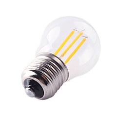 お買い得  LED 電球-1個 4W 360lm E26 / E27 フィラメントタイプLED電球 G45 4 LEDビーズ COB 装飾用 温白色 クールホワイト 220-240V