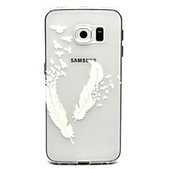 abordables Galaxy S6 Edge Carcasas / Fundas-Funda Para Samsung Galaxy Funda Samsung Galaxy Transparente Funda Trasera Plumas TPU para S6 edge plus / S6 edge / S6