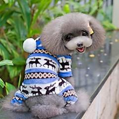 Psy Kombinezon Piżama Niebieski Brązowy Różowy Szary Ubrania dla psów Zima Wiosna/jesień Płatek śniegu Urocze Codzienne