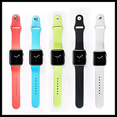 voordelige Apple Watch-accessoires-Horlogeband voor Apple Watch Series 4/3/2/1 Apple Sportband Silicone Polsband