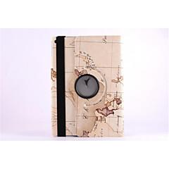 világtérképet 360⁰ esetben design állvány funkciója kiváló minőségű PU bőr táska iPad levegő (vegyes színes)