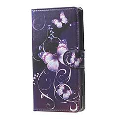 من أجل نوكيا حالة أغط / كفرات محفظة حامل البطاقات مع حامل كامل الجسم غطاء فراشة قاسي جلد اصطناعي إلى Nokia Nokia Lumia 950