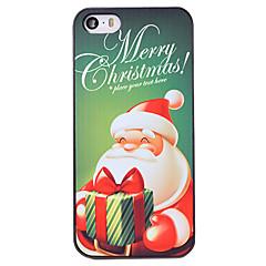 Недорогие Кейсы для iPhone-Кейс для Назначение iPhone 5 Кейс для iPhone 5 С узором Кейс на заднюю панель Рождество Твердый ПК для iPhone SE/5s iPhone 5