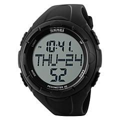 お買い得  メンズ腕時計-SKMEI 男性用 スポーツウォッチ リストウォッチ デジタルウォッチ デジタル 30 m 耐水 アラーム カレンダー ラバー バンド デジタル チャーム ブラック / グリーン - ブラック グリーン / クロノグラフ付き / LCD