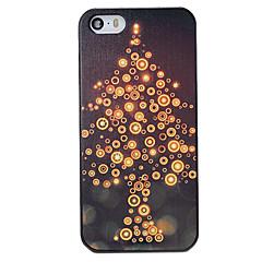 Для Кейс для iPhone 5 С узором Кейс для Задняя крышка Кейс для Новогодняя тематика Твердый PC iPhone SE/5s/5