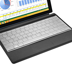 XSKN de ultra delgada piel clara TPU transparente piel del teclado Teclado translúcida para Microsoft Surface 3, nosotros diseño