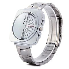 お買い得  メンズ腕時計-男性用 リストウォッチ クォーツ スポーツウォッチ PU バンド ハンズ 光沢タイプ ブラック - ホワイト ブラック ブラックとホワイト