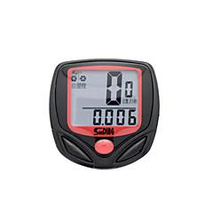 Jazda na rowerze Komputer rowerowy Zegar / Licznik czasu jazdy / Wygodny / Drogomierz Czarny Plastik