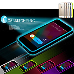 Недорогие Кейсы для iPhone 5-Кейс для Назначение iPhone 5 / Apple Кейс для iPhone 5 Мигающая LED подсветка / Прозрачный Кейс на заднюю панель Однотонный Мягкий ТПУ для