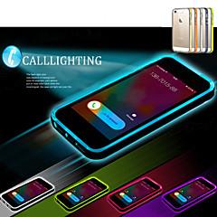 tanie Etui do iPhone-Kılıf Na iPhone 5 Apple Etui iPhone 5 Światło LED Przezroczyste Czarne etui Solid Color Miękkie TPU na iPhone SE/5s iPhone 5