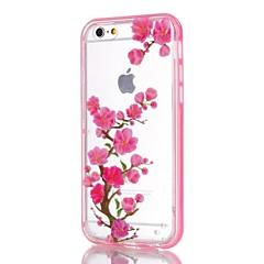 Для Кейс для iPhone 5 Мигающая LED подсветка / С узором Кейс для Задняя крышка Кейс для Цветы Мягкий TPU iPhone SE/5s/5