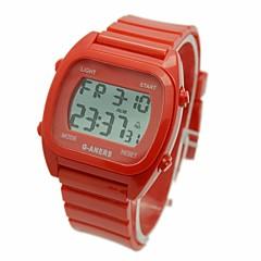 お買い得  メンズ腕時計-男性用 リストウォッチ デジタル アラーム カレンダー クロノグラフ付き ラバー バンド デジタル チャーム 白 / ブルー / レッド - ホワイト レッド ブルー / LCD