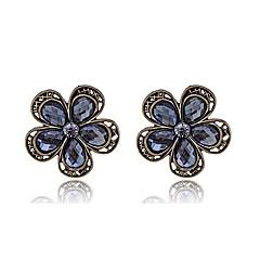 Χαμηλού Κόστους Σκουλαρίκια-Κουμπωτά Σκουλαρίκια Κρυστάλλινο Κρύσταλλο Κράμα Flower Shape Μαύρο Κοσμήματα Πάρτι Καθημερινά Causal 1pc
