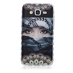 halpa Galaxy Alpha kotelot / kuoret-Varten Samsung Galaxy kotelo Kuvio Etui Takakuori Etui Seksikäs nainen TPU SamsungJ7 / J5 / J3 / J2 / J1 Ace / J1 / Grand Prime / Core