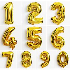 abordables globos-10pcs gran número de oro 0-9 globos año nuevo decoración de la boda la fiesta de Navidad con balón