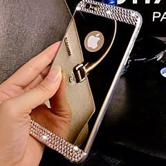 tanie -Na iPhone 8 iPhone 8 Plus iPhone 7 iPhone 7 Plus iPhone 6 iPhone 6 Plus Etui Pokrowce Stras Galwanizowane Lustro Etui na tył Kılıf Solid