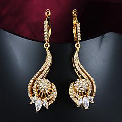 Beszúrós fülbevalók nyilatkozat ékszerek elegáns Gyöngy Cirkonium Arannyal bevont Aranyozott Ékszerek Mert Esküvő Parti Napi Hétköznapi