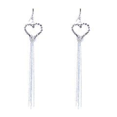 preiswerte Ohrringe-Damen Kristall Tropfen-Ohrringe - Krystall, Strass, versilbert Herz, Liebe Quaste, Modisch Silber Für Party / Alltag / Normal