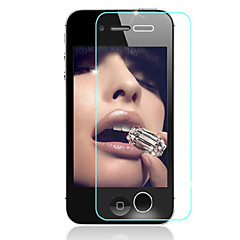 HD отпечатков пальцев доказательство прозрачный царапинам стекло пленка для iPhone 4 / 4s