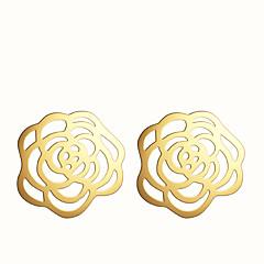Χαμηλού Κόστους Σκουλαρίκια-Κουμπωτά Σκουλαρίκια Κράμα Μοντέρνα Flower Shape Ασημί Χρυσαφί Κοσμήματα Πάρτι Καθημερινά Causal 2pcs