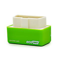 Недорогие OBD-2016 самая новая версия плагина и диск ecoobd2 производительности чип тюнинг коробка для бензиновых легковых и грузовых автомобилей