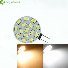preiswerte LED-Birnen-SENCART 700-900lm G4 LED Spot Lampen MR11 15 LED-Perlen SMD 5630 Abblendbar Warmes Weiß / Natürliches Weiß 12V / 24V / 9-30V