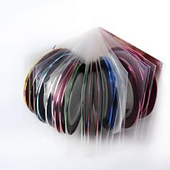 abordables Joyas de Uñas-30 unids rollos de cinta adhesiva de rayas línea adhesivo de uñas 2 unids caja dedicada