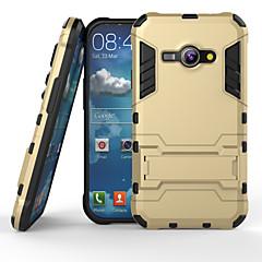 お買い得  Samsung その他の機種用ケース/カバー-ケース 用途 Samsung Galaxy Samsung Galaxy ケース 耐衝撃 スタンド付き バックカバー 鎧 PC のために J1 Ace