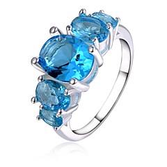 preiswerte Ringe-Damen Kristall Statement-Ring - versilbert 8 Für Hochzeit / Party / Alltag / Krystall