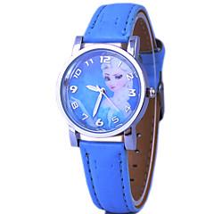 preiswerte Tolle Angebote auf Uhren-Kinder Modeuhr Quartz PU Band Blau Rosa Blau Rosa