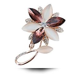 gyémánt opál kristály bross boldog virágok