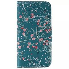 billige Galaxy S3 Etuier-For Samsung Galaxy etui Pung Kortholder Med stativ Flip Etui Heldækkende Etui Træ Kunstlæder for SamsungS6 edge plus S6 edge S6 S5 Mini