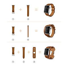 billige Apple Watch-bånd-Urrem for Apple Watch Series 3 / 2 / 1 Apple Håndledsrem Klassisk spænde Ægte læder